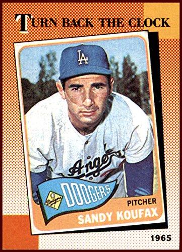 - Sandy Koufax LOS ANGELES DODGERS HOF 1990 Topps TBC Turn Back the Clock #665 1965