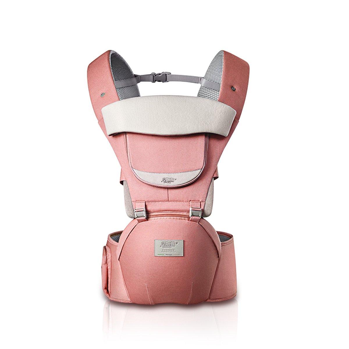 SONARIN 3 in 1 All Season atmungsaktive Hipseat Baby Carrier, Babytrage, Sonnenschutz,Ergonomisch,Multifunktion,Einfach Mom,100% GARANTIE und KOSTENLOSE LIEFERUNG, Ideal Geschenk(Grau)