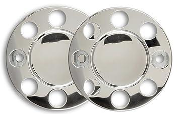 2 pieza universal Camiones Cilindro de Bolz cubierta en 19,5 pulgadas cerrado de acero inoxidable: Amazon.es: Coche y moto
