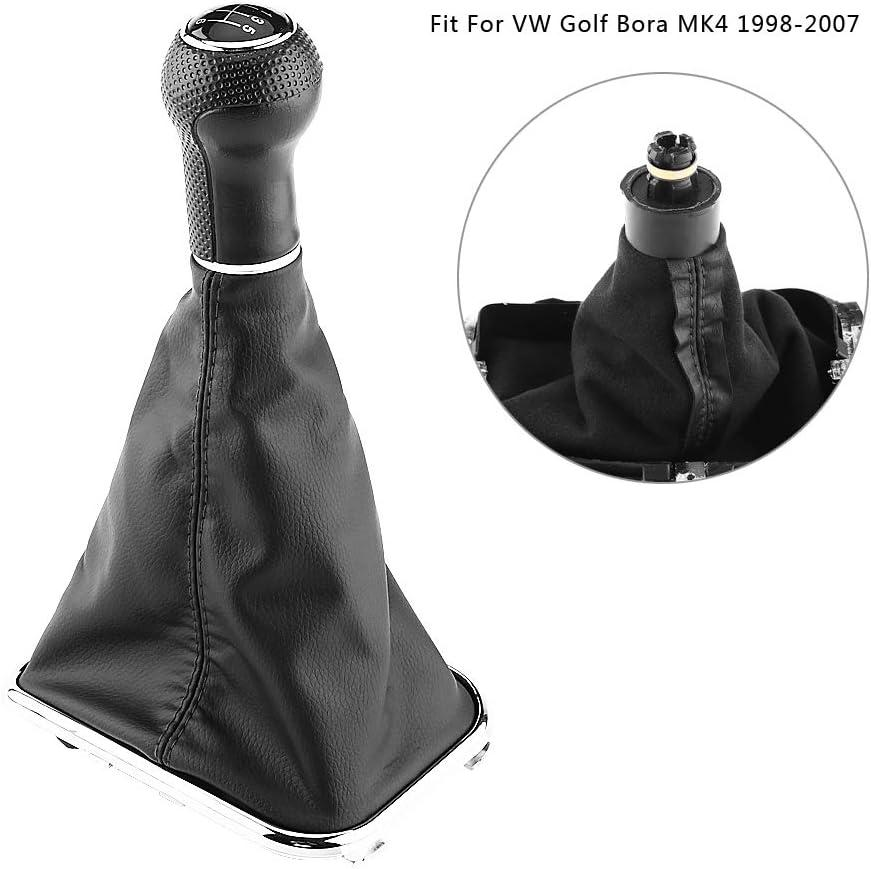 6 Speed Car Gear Shift Knob Stick Gaiter Boot Frame Kit for B-ora G-olf MK4 1998-2007 Gear Stick Knob Gaiter