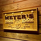 AdvPro Wood Custom wpa0129 Name Personalized Poker Room Casino Game Wood Engraved Wooden Sign - Large 26.75'' x 10.75''