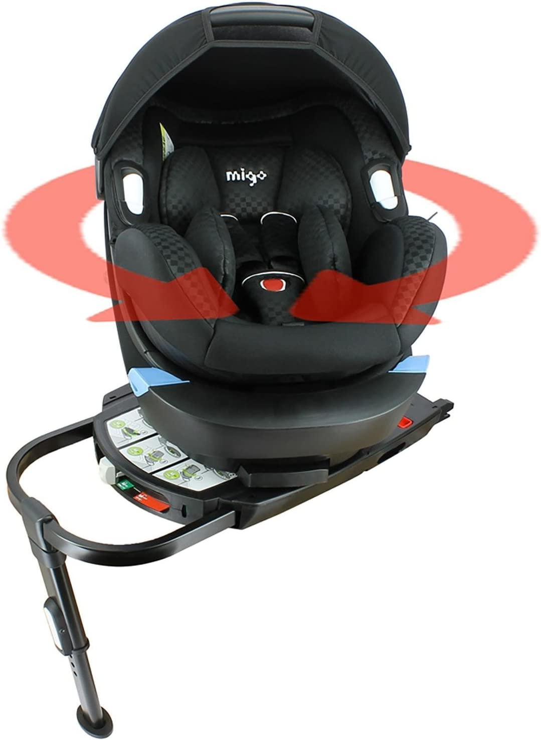Approved ECE R44//05- Made in France Group 0+ 0-13kg - with Swivel ISOFIX Base