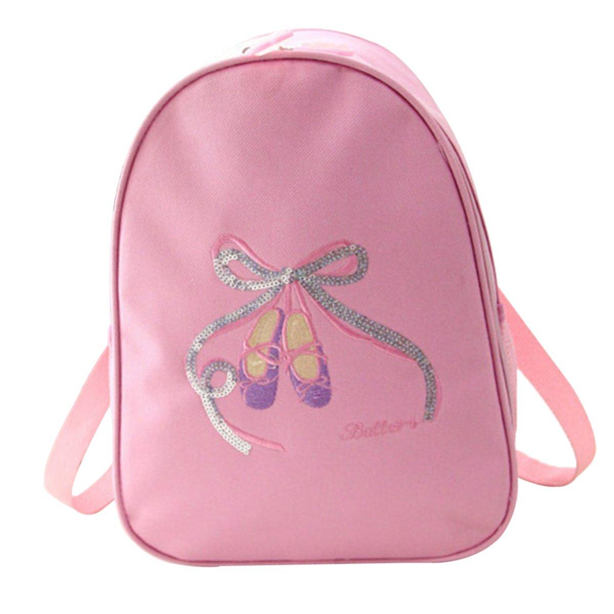 Happy Cherry sacchetto di danza classica Bambino Ragazza Zaino ginnastica balletto sacchetto di sport piscina bambino piccolo sacchetto di viaggio rosa rosa scuro blu, Rose