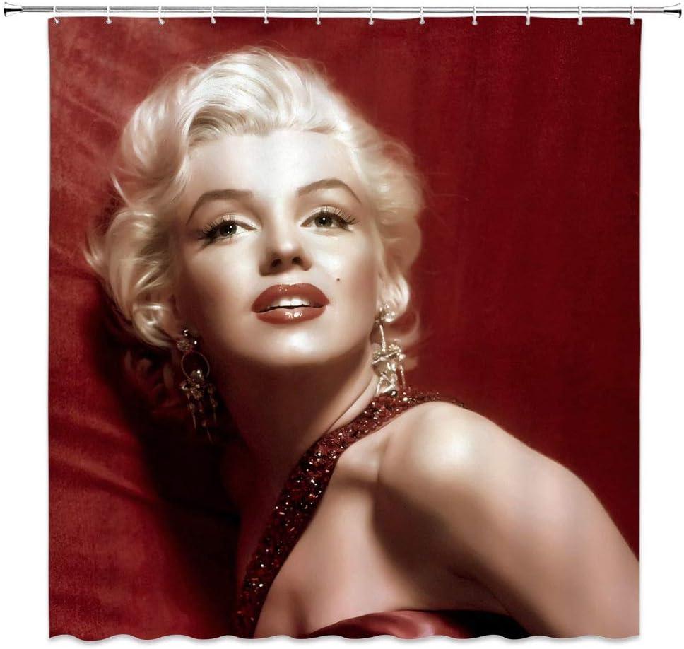 Impermeabile Bellissima Tenda da Doccia con Marilyn Monroe Sexy in Poliestere SRJ2018 183 x 183 cm