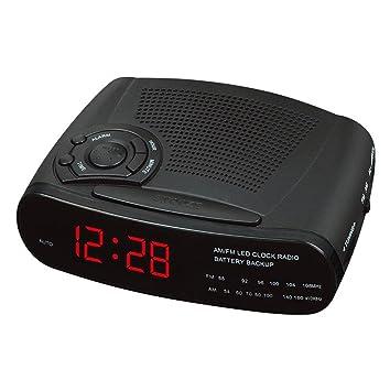 GAOHL Reloj, Radio Reloj Despertador con Am y FM Canales Radio Reloj LED, 2: Amazon.es: Hogar