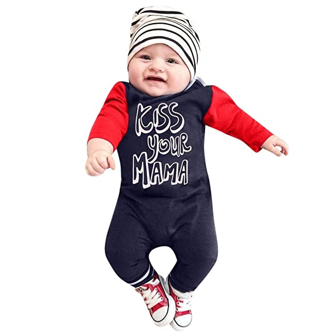 Newborn Infants Baby Boy Girl Note Romper Jumpsuit Playsuit Clothes Set Outfits