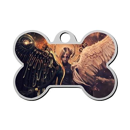 Etiqueta para Perro de Hada de ángel Divil con Forma de Hueso de ...