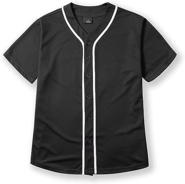 Shirt Team Sports Button Fashion Hipster Casual Men/'s Baseball Jersey Raglan T