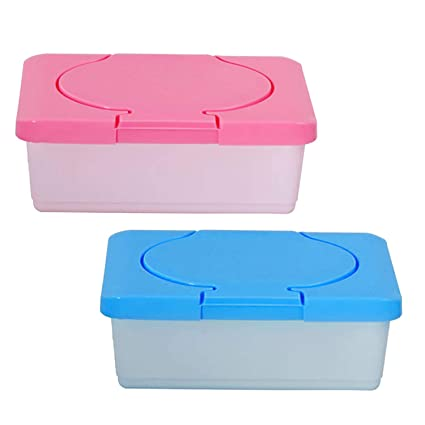2 unids Vacío De Plástico Tejido Mojado Papel Titular de Almacenamiento Titular de Contenedores Toallitas para