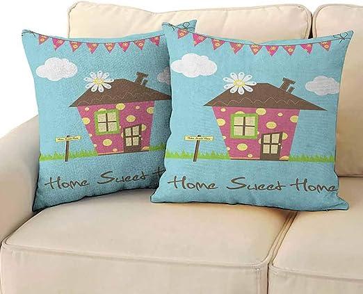 zojihouse Home Sweet Home - Funda de Almohada hipoalergénica ...
