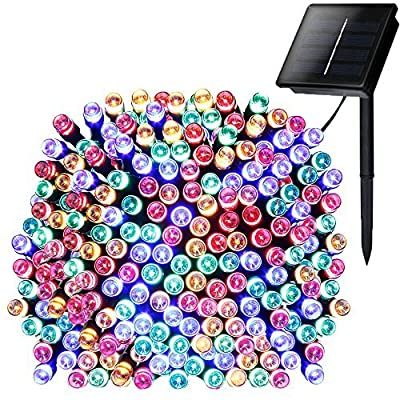addlon Solar Lights Outdoor 72ft 200 LED Fairy Lights, Ambiance lights for Patio, Lawn, Garden, Home, Wedding, Holiday, Christmas, Xmas Tree decoration, waterproof/Timer/USB Charge (Multi-color) : Garden & Outdoor