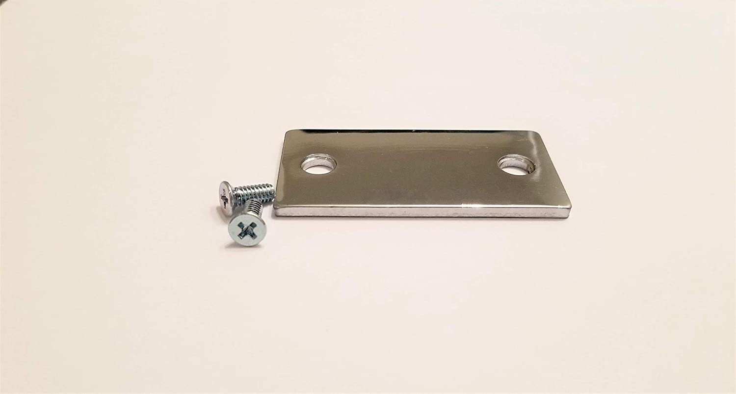 Brushed Chrome Cylindrical Filler Plate TUFF STRIKE Filler Plate 1 1//8 x 2 1//4 Door Strike Plate Filler