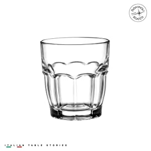 Bormioli Rocco Rock Bar Stackable Juice Glasses – Set Of 6 Dishwasher Safe Drinking Glasses For Soda, Juice, Milk, Coke, Beer, Spirits – 6.75oz Durable Tempered Glass Water Tumblers For Daily Use