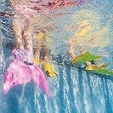 Adjustable Mermaid Swim Fin Diving Monofin Swimming Foot Flipper Mono Fin Swim Training For Kid Children (Pink Purple)