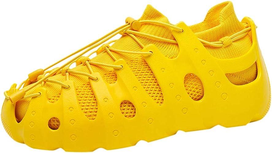 ALIKEEY - Zapatillas de Running para Mujer, Zapatillas de habitación Romana, Tejido al Aire Libre, Transpirables, Color Amarillo, Talla 35/36 EU: Amazon.es: Zapatos y complementos