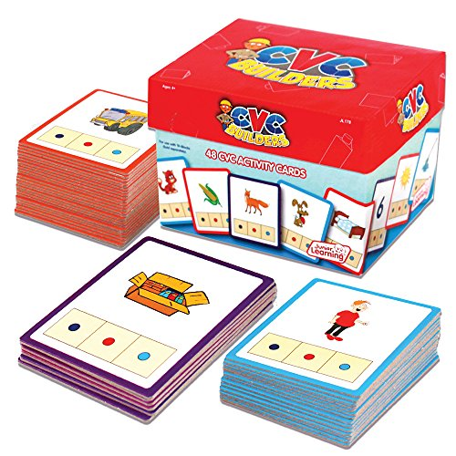 Builder Set Junior (Junior Learning CVC Word Builders Activity Cards)
