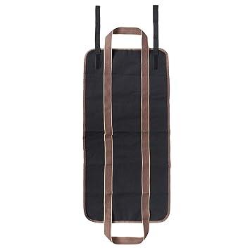 Portamonedas de lienzo portátil de leña de almacenamiento de madera bolsa de asas portador titular para