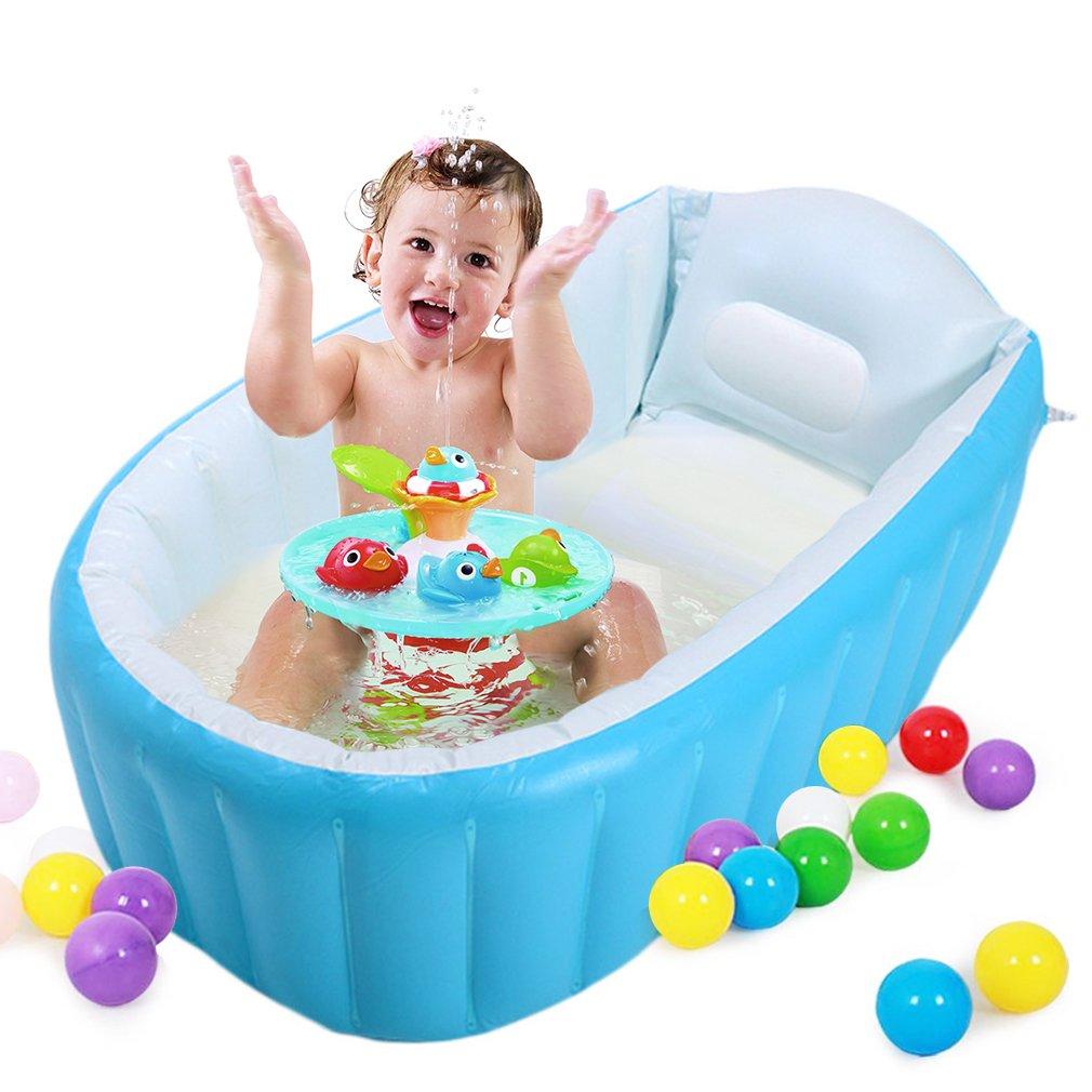 Amazon.com : Baabyoo Inflatable Safety Bathtub Baby Swimming Pool ...
