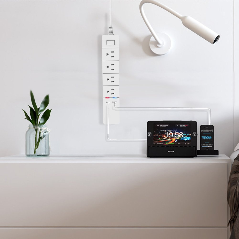 Merisny WiFi Power Strip Smart Surge Protector with Individual Control - Works with Alexa Google Home - Smart Surge Protector with USB - Remote Control by Smart Phone by Merisny (Image #8)