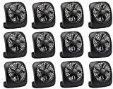 "Tools & Hardware : O2Cool FD05004BLK 5"" Black 2 Speed Battery Operated Camping Fans - Quantity 12"