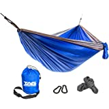 Camping Hammock - Double Hammock is Spacious, Lightweight & Super Comfortable - Folding Parachute Portable Hammock is Perfect for Backpacking, Tree, Yard and Outdoor Travel