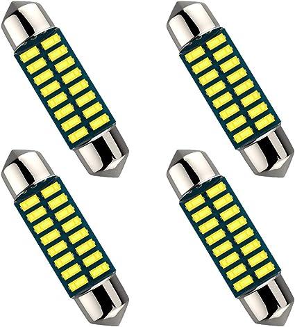 Bombilla LED 12V Blanco 6-LED 1.50 36mm 6418 C5W para Luz de Matricula de YU 1X