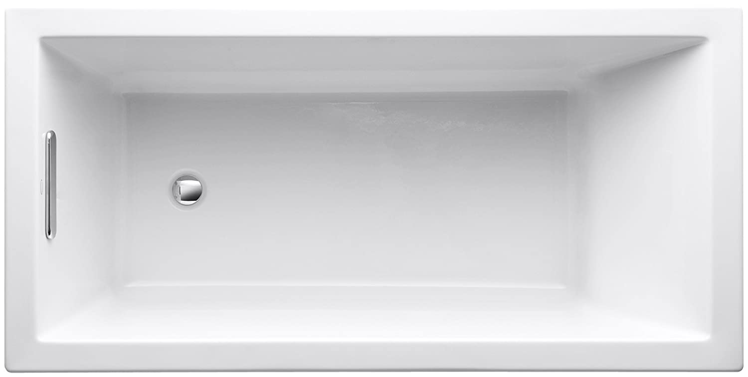 Kohler K 1121 0 Underscore Drop In Undermount Bathtub, White   Soaking Tubs    Amazon.com