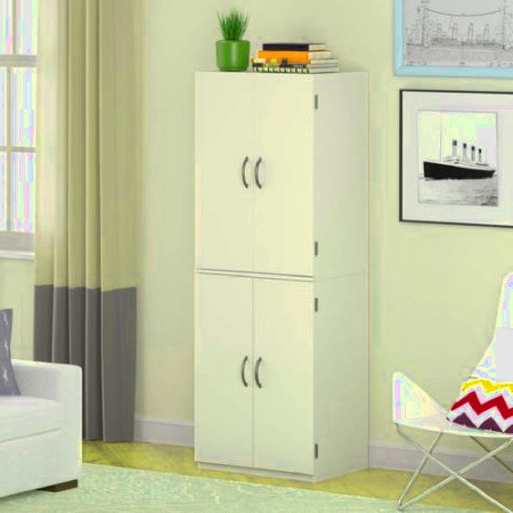 Enclosed Storage Cabinets, Kitchen, Garage, Indoor and Living Room Large White Stipple Organizer Storage Box & E-Book