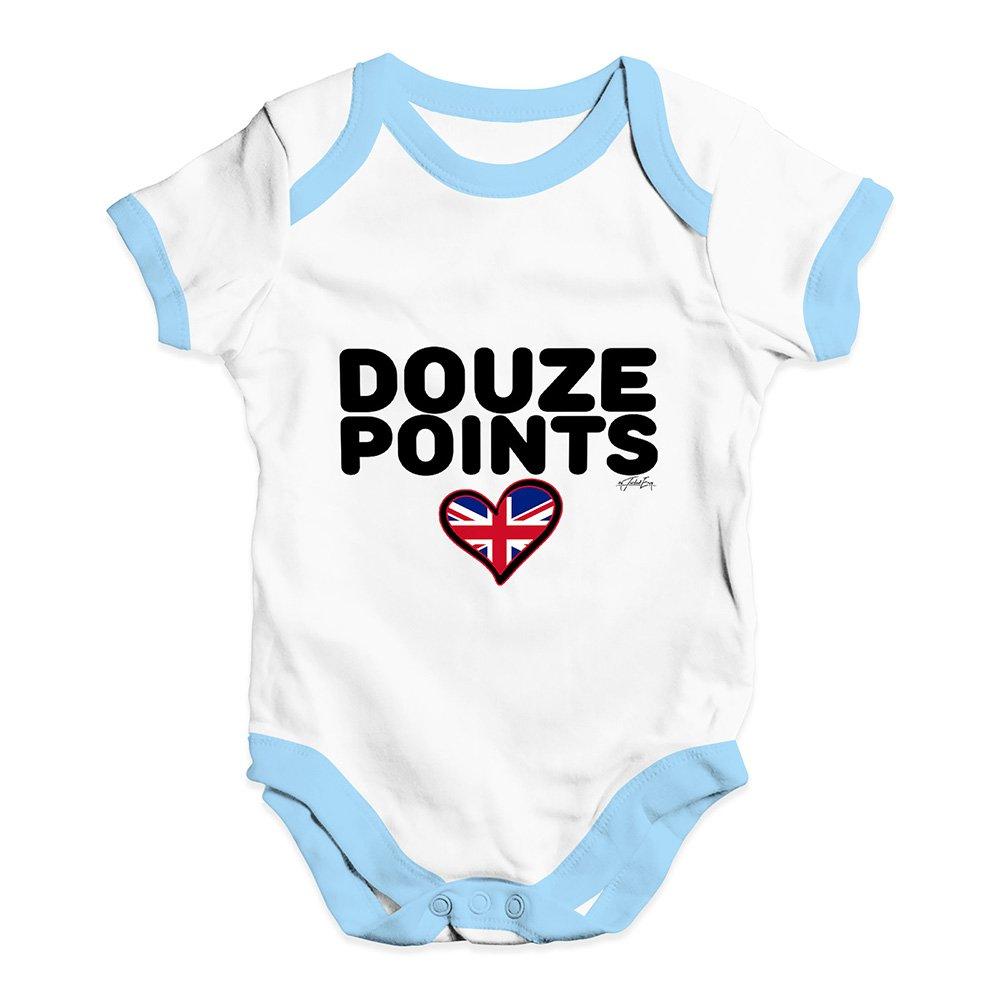 TWISTED ENVY Douze Points United Kingdom Baby Unisex Printed Infant Bodysuit Baby Grow