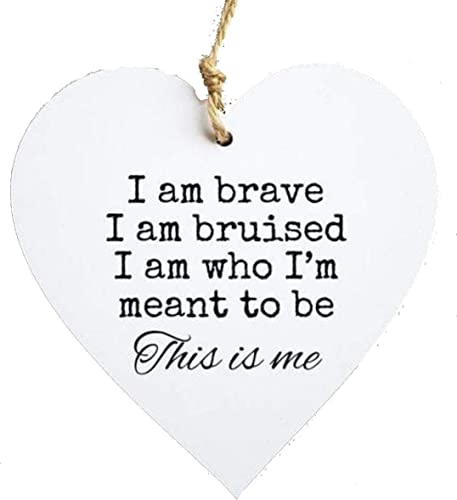 ebedcb181a666 The Greatest Showman - This is Me Hanging heart/Plaque Decoration Gift,  Home Decor Inspirational Quote