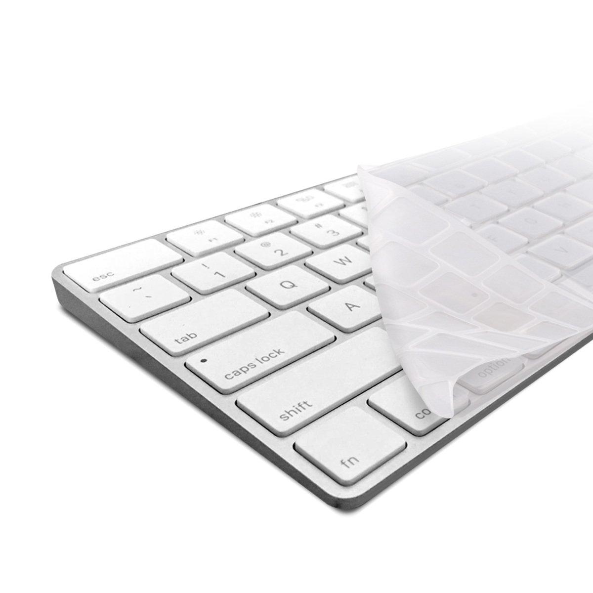 kwmobile Protection de Clavier QWERTY (US) Robuste, Fine en Silicone pour Apple Magic Keyboard en Transparent - Protection Effective Contre saleté et Usure KW-Commerce 37224.03_m000108