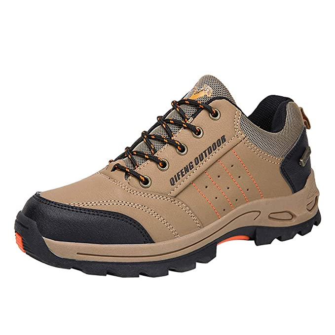 Sunyastor Men Hiking Shoes,Popular Outdoor Antiskid Trekking Tourism  Mountain Sneakers Walking Shoes