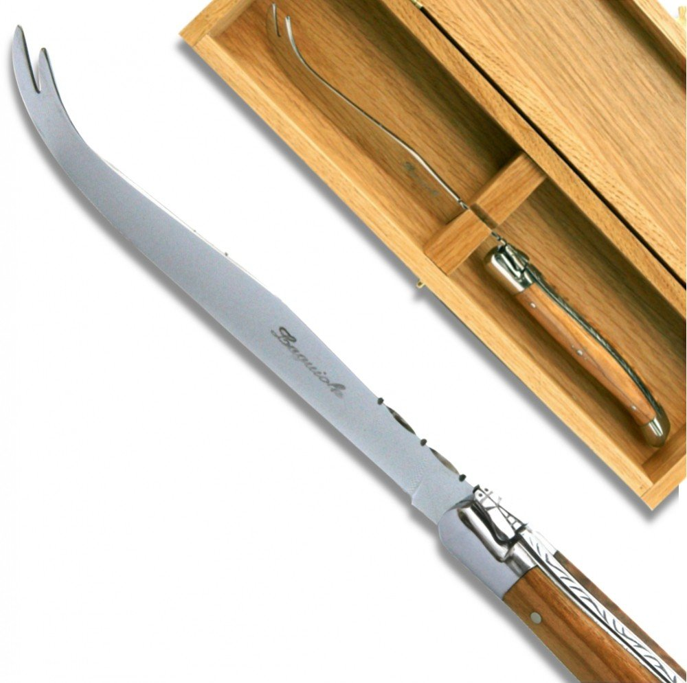 Laguiole Cheese knife Olive wood Handle direct from France