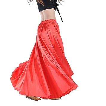 Dance Fairy Danza del Vientre satén Falda Larga Mujeres Halloween ...