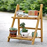 Bamboo multiple layers flower rack folding flower rack-A
