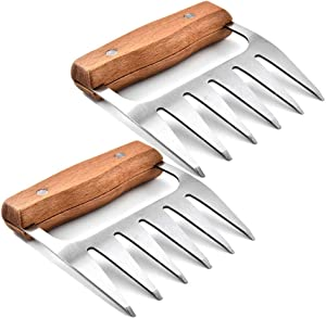 GMCELL Bear Claws for Shredding Meat, Shredder Paws BBQ Tools, Food Grade Stainless Steel Kitchen Handler Forks for Pulled Port, Chicken, Brisket, Turkey