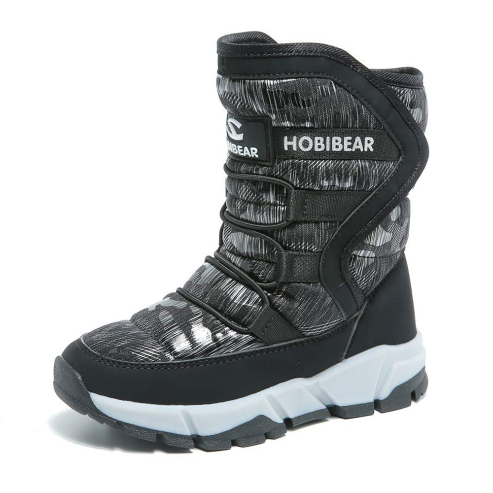 Smart.A Boys Snow Boots Outdoor Waterproof Cold Weather Winter Boots for Girls