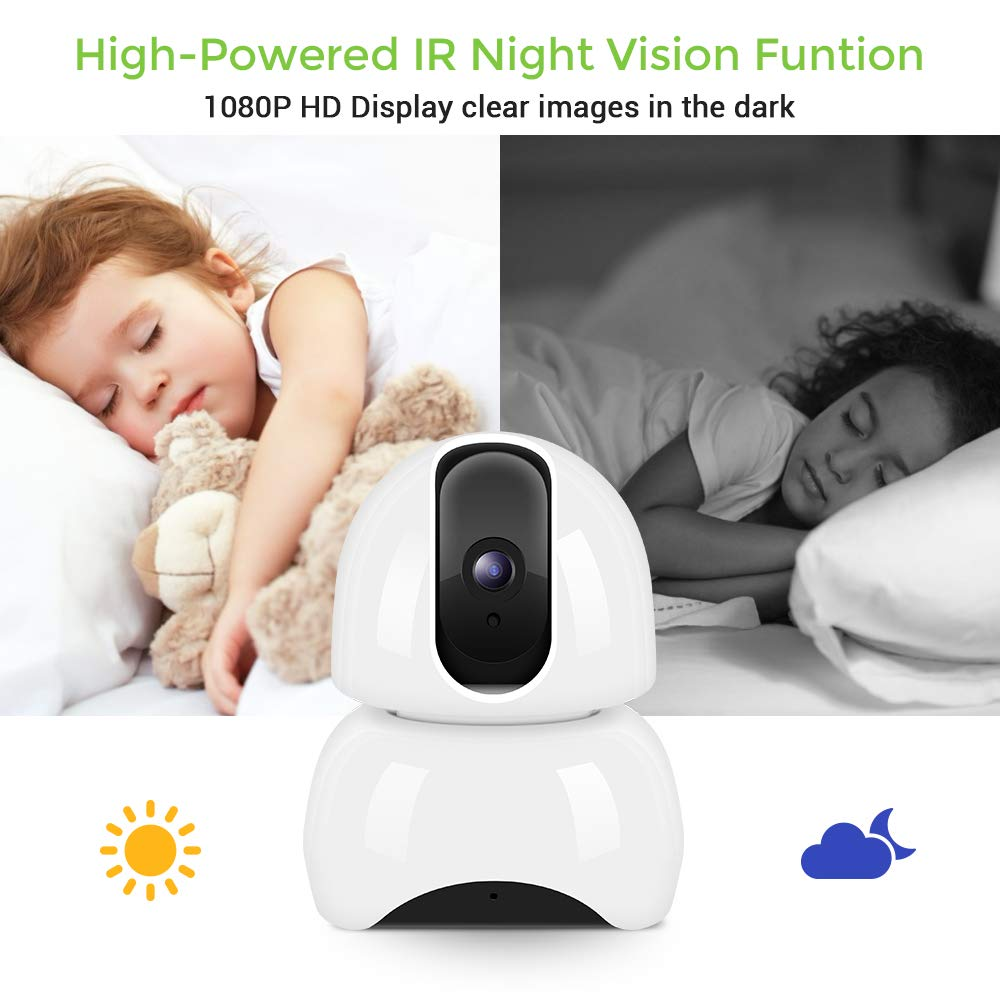 Security Camera home IP Camera, 1080P HD Wifi Camera Home Security Camera Indoor HD Surveillance Camera with Night Vision, Motion Detection, 2 Way Audio, Cloud Storage Monitor for Pet/Baby/Elder