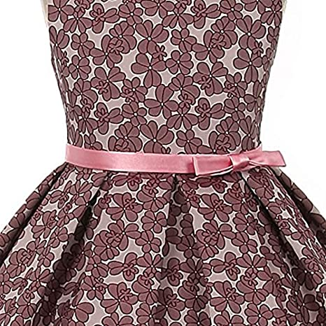 9149034ec0c Amazon.com  Beautiful Floral Jacquard Design Pleated Skirt Bridesmaid Party Girl  Dress  Clothing