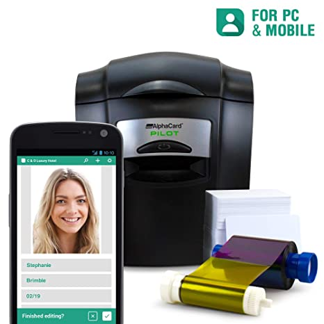 Amazon.com: Paquete completo de impresora de tarjetas de ...
