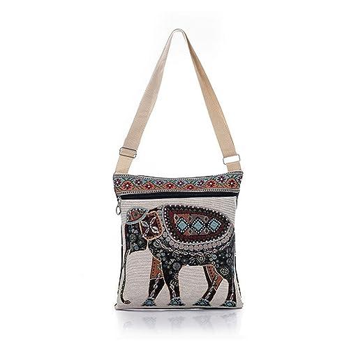 Luckywe Mujeres bolso bandolera Elefante que teje Messenger ...