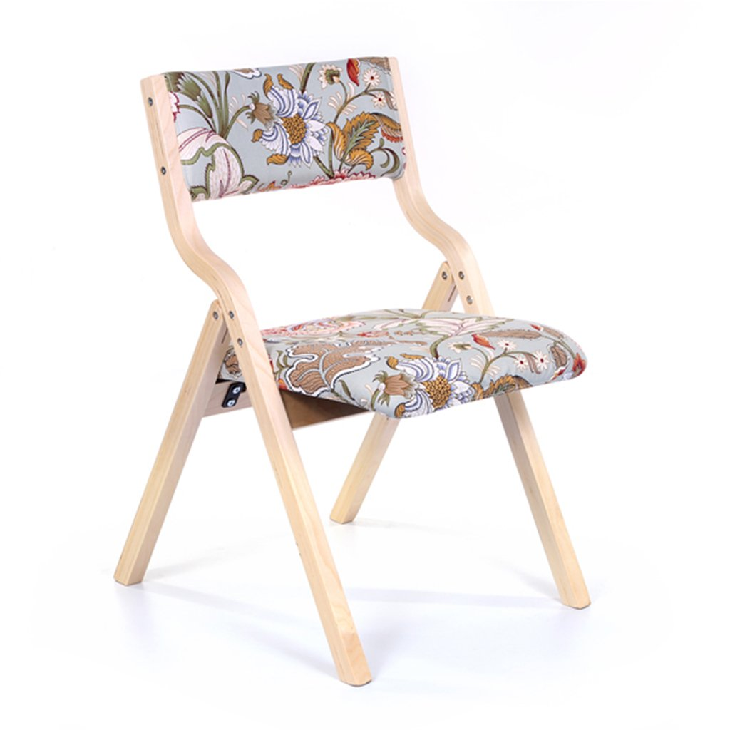 木製折りたたみキッチンチェア、ティーン用、ベッドルームオフィス室内用ベッドルームレストラン取り外し可能なシートカバー付きの布張りのスツール (色 : Style-4, サイズ さいず : Set of 1) B07F13V8WV Set of 1|Style-4 Style-4 Set of 1