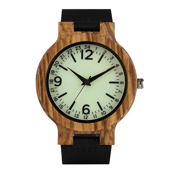 JLySHOP Reloj Digital Luminoso de Madera para Hombre y Mujer, Relojes de Madera Originales, Reloj de Pulsera de Madera para niños: Amazon.es: Relojes