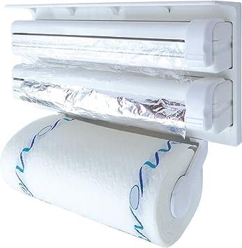 jaminer Triple dispensador de papel, dispensador de pared plástico marco Wrap Rollo de papel dispensador
