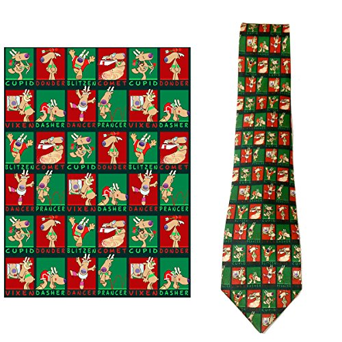 Stonehouse Collection Men's Christmas Tie - Funny Christmas Necktie - Funny Microfiber Necktie Tie
