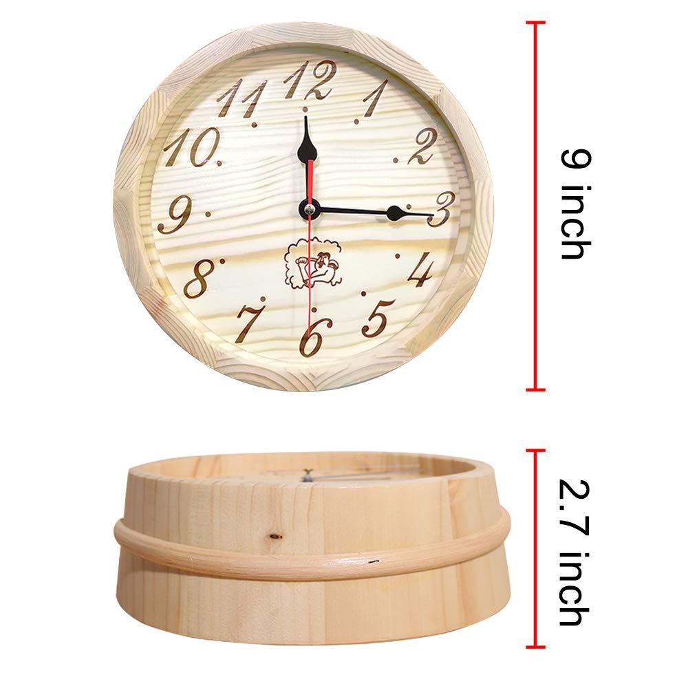 - 6L Pinus silvestris Sauna Wooden Bucket and Ladle Kit,Uwecan Sauna Accessories with Liner for Sauna /& SPA Made of Premium Finland Pinewood