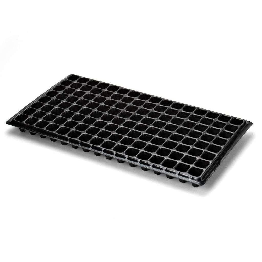 128 Cell w/ 1020 Flat Seed Starter Tray - Extra Strength, 10 Pack Combo, Seedling Trays for Starting Plantings Propagation, Germination Plug Station by Bootstrap Farmer