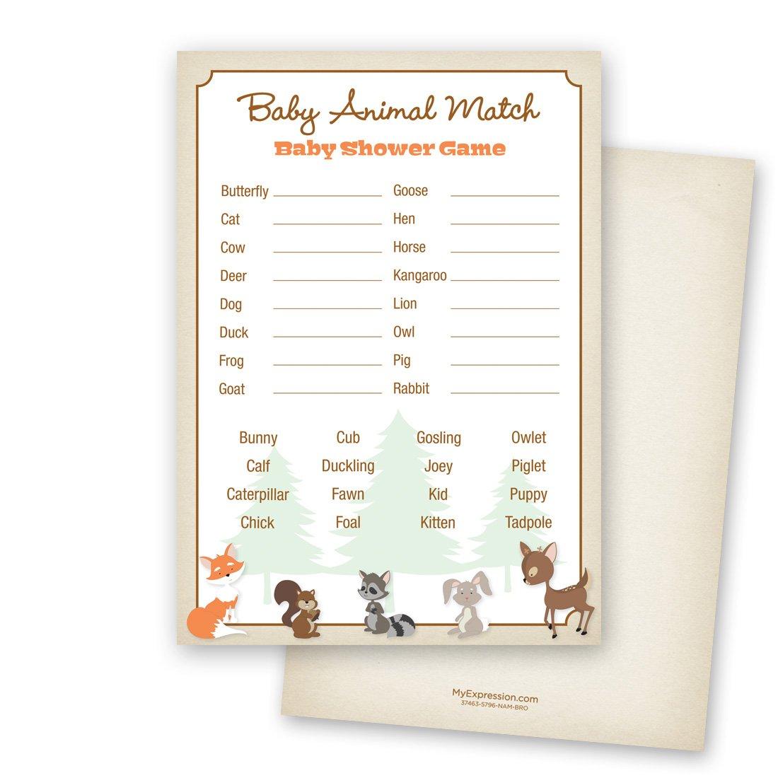 24 cnt Woodland Animals Baby Animal Name Game