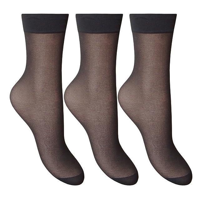 SILKY Smooth Anklets Ankle Pop Trouser Socks Comfort Top 6 COLOURS 15 denier