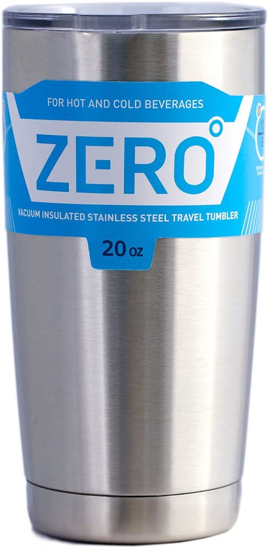 Stainless Steel Tumbler with Lid, Double Wall Vacuum Insulated Travel Mug for Hot and Cold Drink by Zero Degree (20oz)